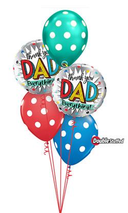 $45 - Thank you Dad Balloon Bouquet