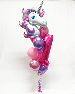 $87.50 - Giant Unicorn Bouquet with Number