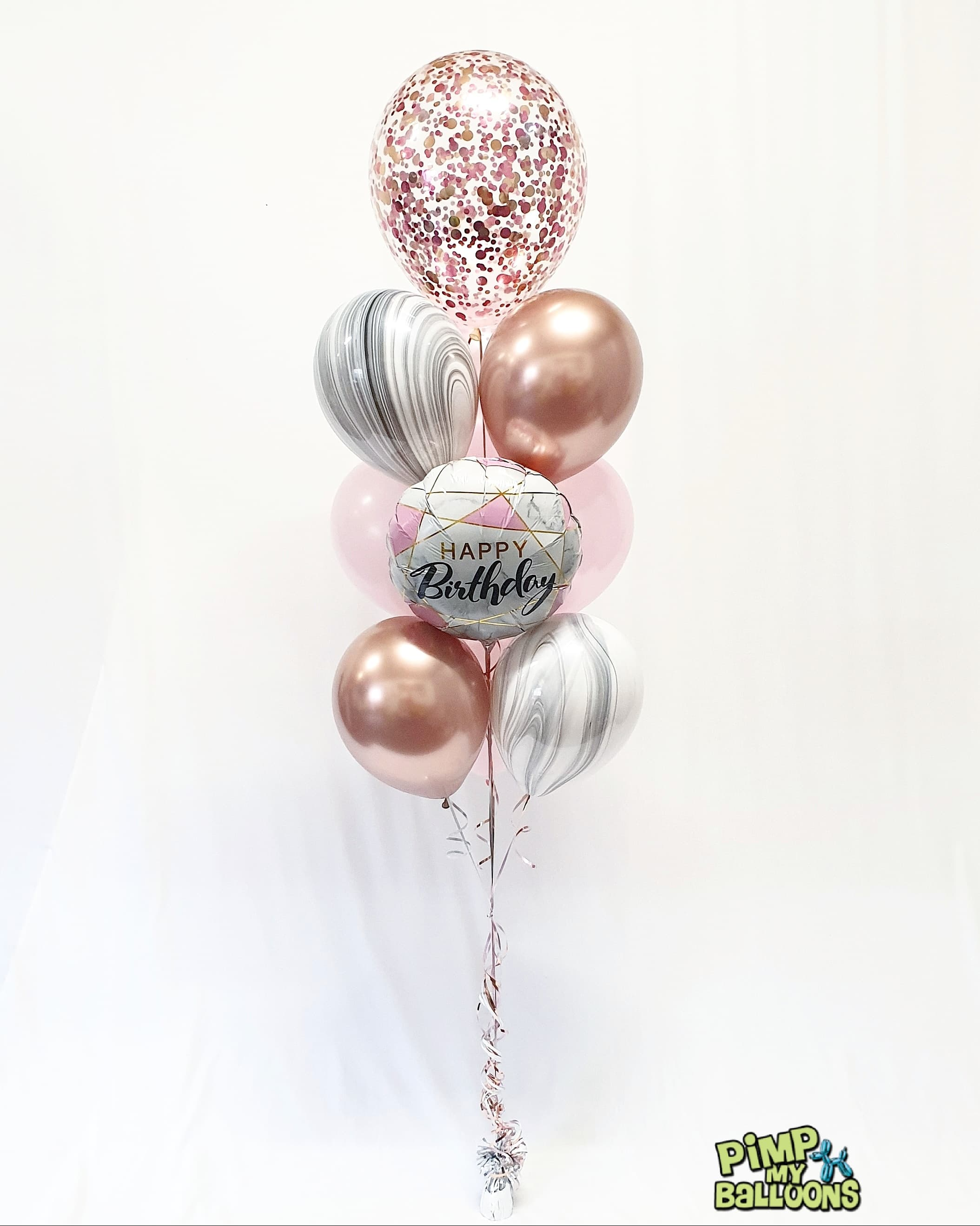 $51 Confetti Topped Helium Bouquet with foil