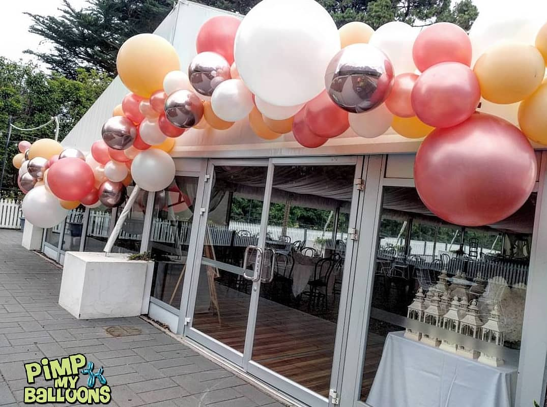 Organic wedding balloon garland