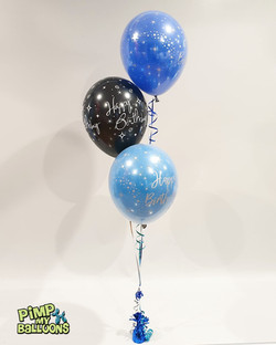 $20 - Happy Birthday 3 Balloon Bouquet