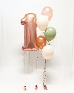 $50 - Foil Number and 5 balloon helium bouquet