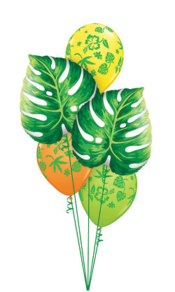 $50  -  Tropical Leaves Colourful