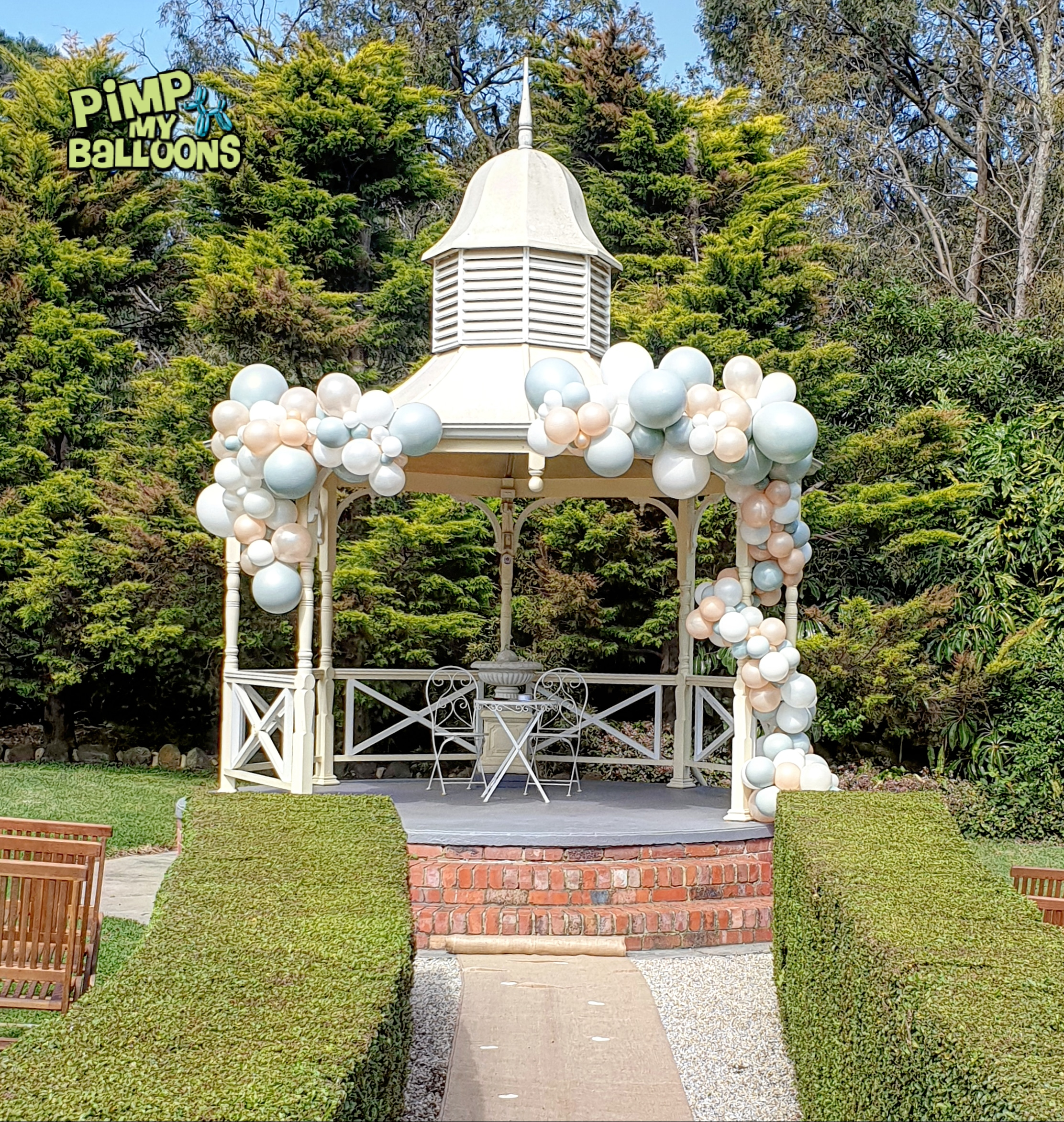 Gazebo Wedding Balloon Garland