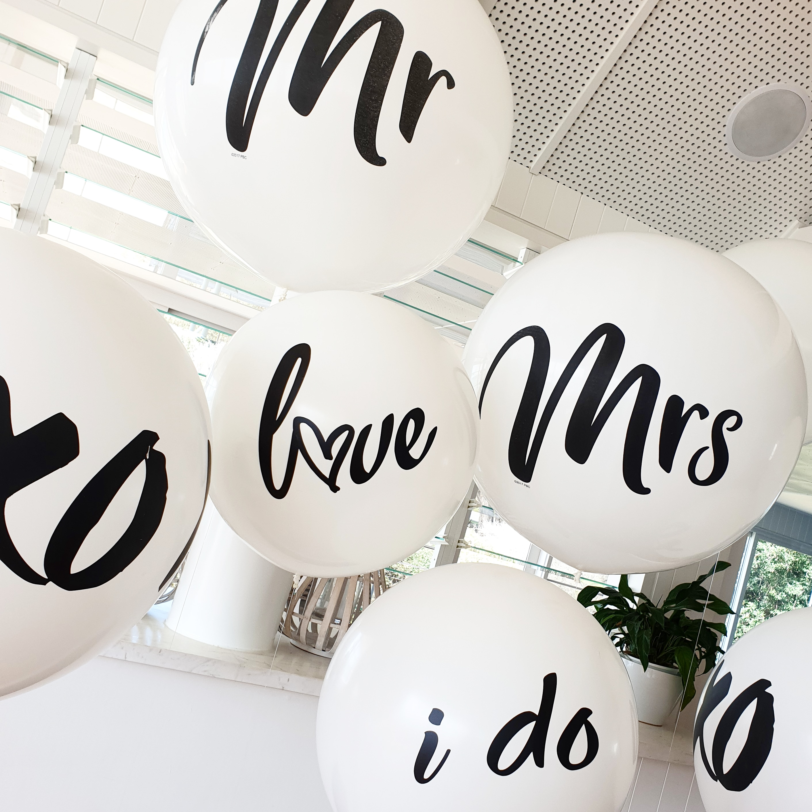 Personalised wedding balloons