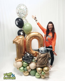 $180 - Baby Yoda Epic birthday bouquet