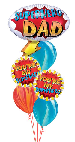 $70 - Super Dad Balloon Bouquet