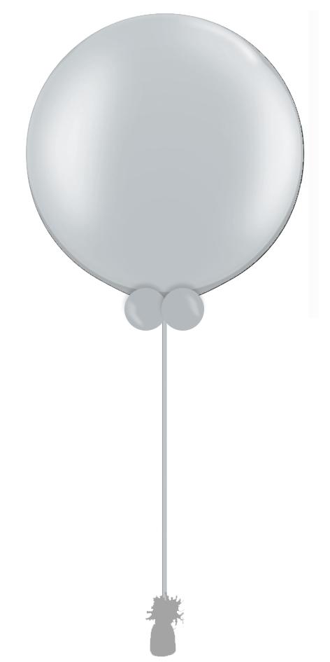 $55  -  Grey Gender Reveal Balloon