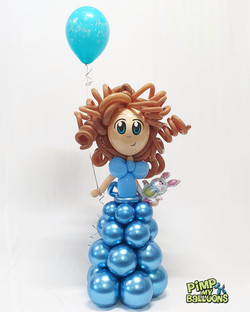 $110 - Girl Balloon Character