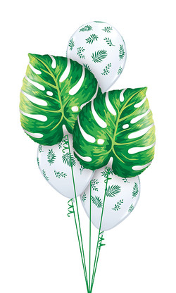 $50  -  Tropical Leaves White