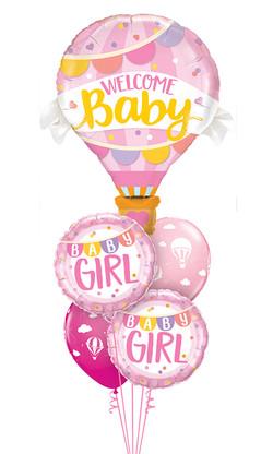 $65  -  Baby Girl Hot Air Balloon