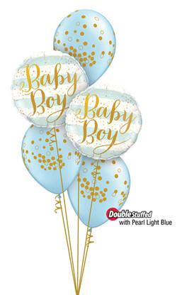 $45  -  Baby Boy Confetti Print