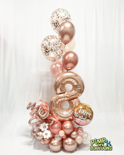 $140 - Single Number Epic Balloon Bouquet