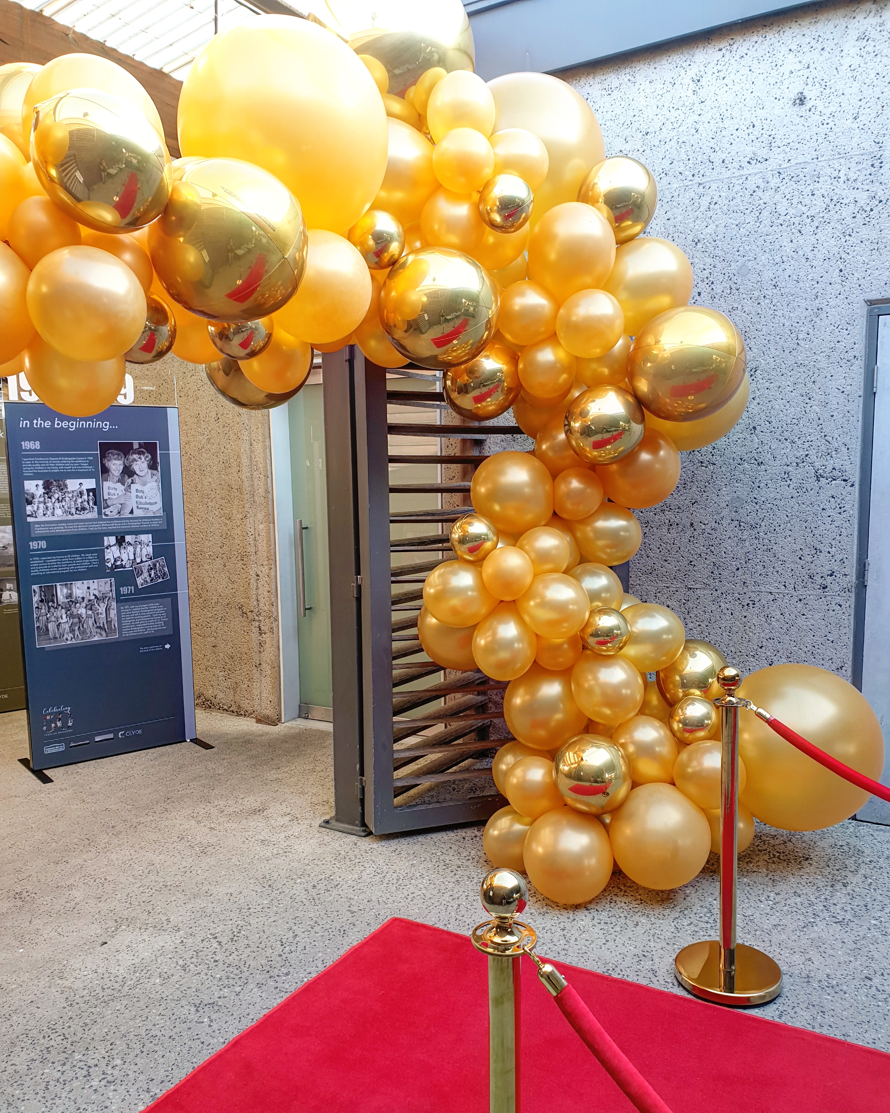 Gold Organic Balloon Garland 2