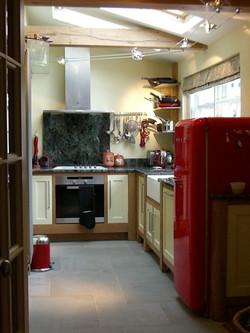 Kitchen Oak frames with Painted door