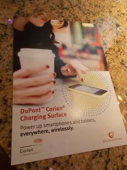 Corian wireless charging
