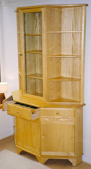 hardwood bespoke display cabinets, handmade american black walnut furniture, handmade oak furniture, maple furniture, beech furniture, cherry furniture, elm furniture, pine furniture, handmade in Ripon near Harrogate in North Yorkshire