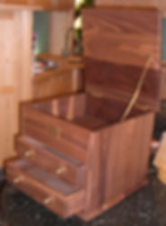 American Black walnut handmade chests and furniture handmade and engravedd in Ripon near Harrogate in North yorkshire