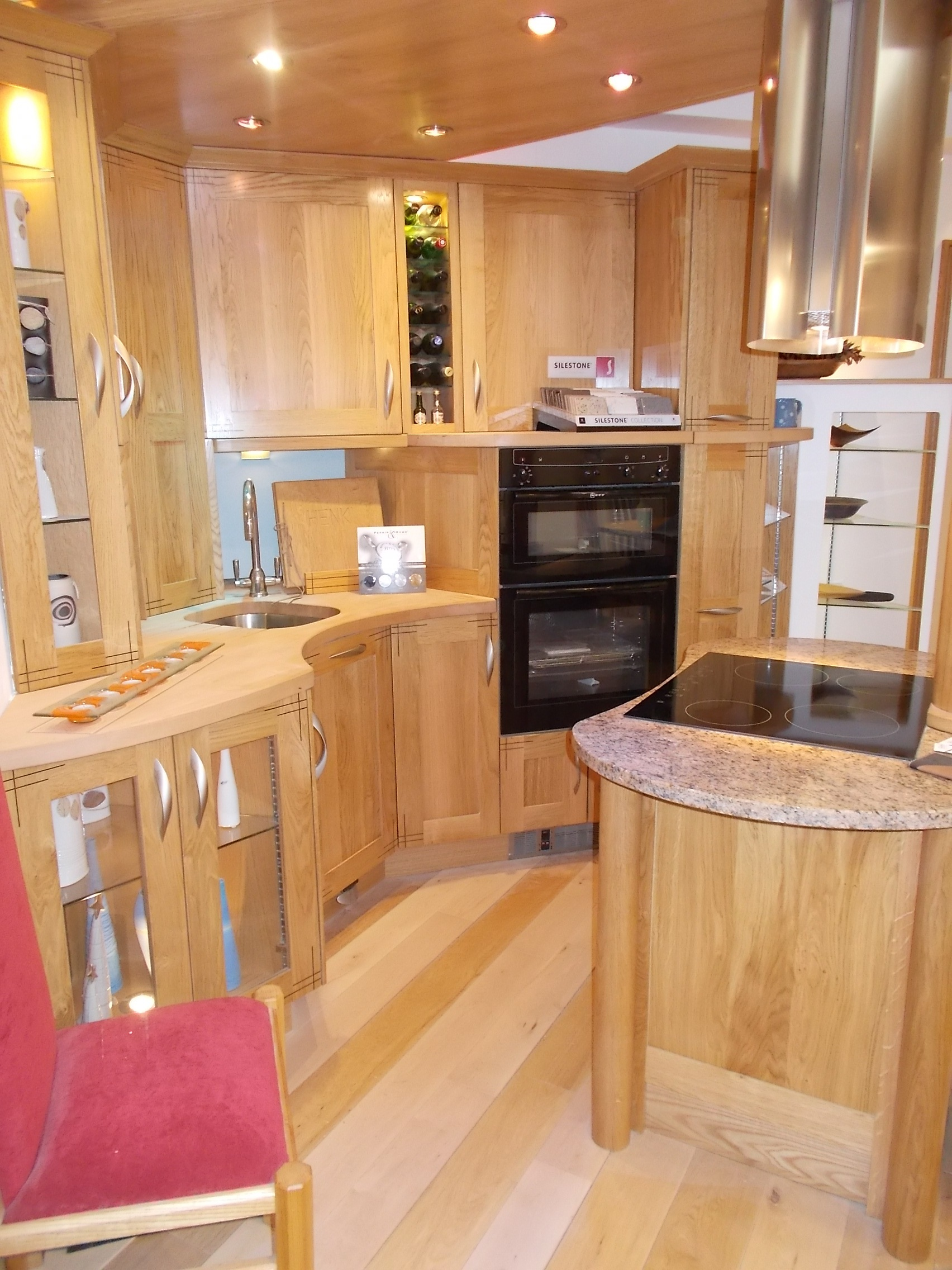 Oak kitchen with maple worktop