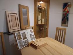 Hardwood furniture in our Showroom