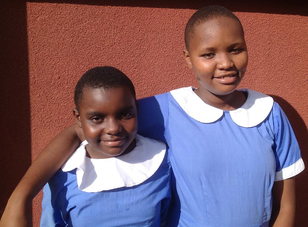 Dorcas and Beatrice in 8th grade
