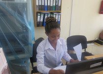 TGFT girl interns at Meru Community Bank