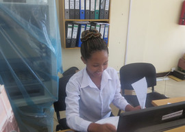 TGFT girl interns at Meru Community Bank