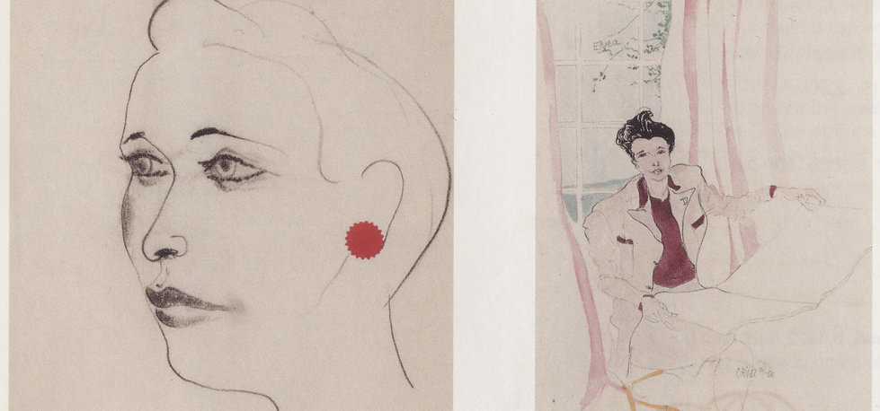 Two portraits of Erica Brausen, by John Banting and Oriel Ross