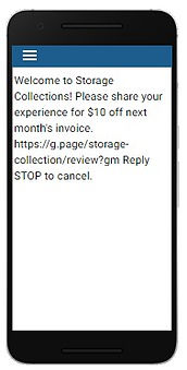 Storage Collection Online Review Reminde