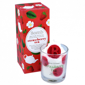 Strawberry Tea Piped Glass Candle