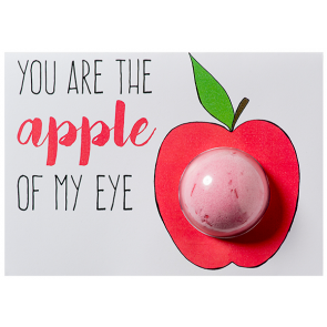 You are the Apple of my Eye Blaster Card