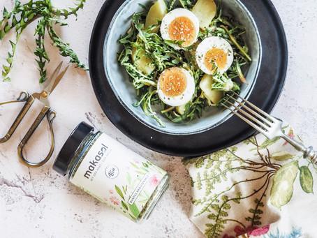 Röhrlsalat mit Zitronen-Honig-Dressing