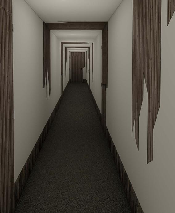 Projet décoratif immeuble Banchais OPUS - Couloir