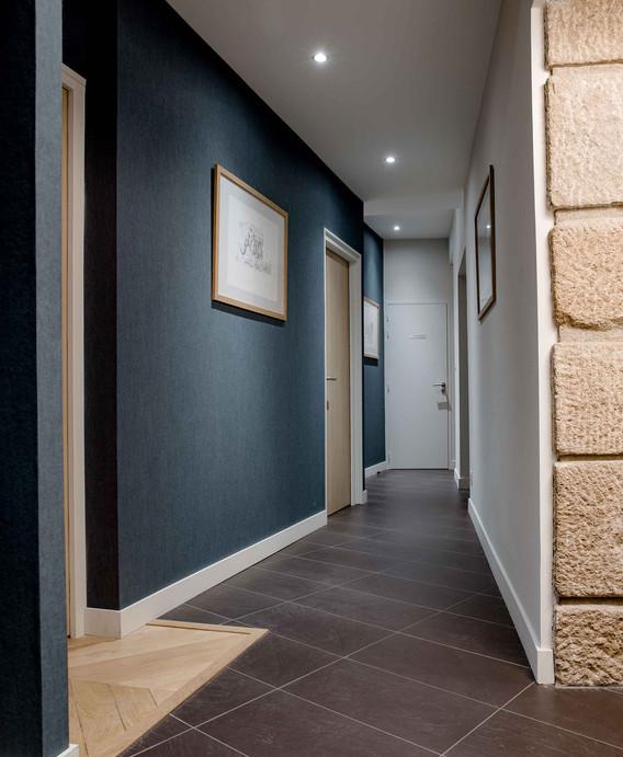 Rénovation d'un bureau étude à Nantes - Couloir