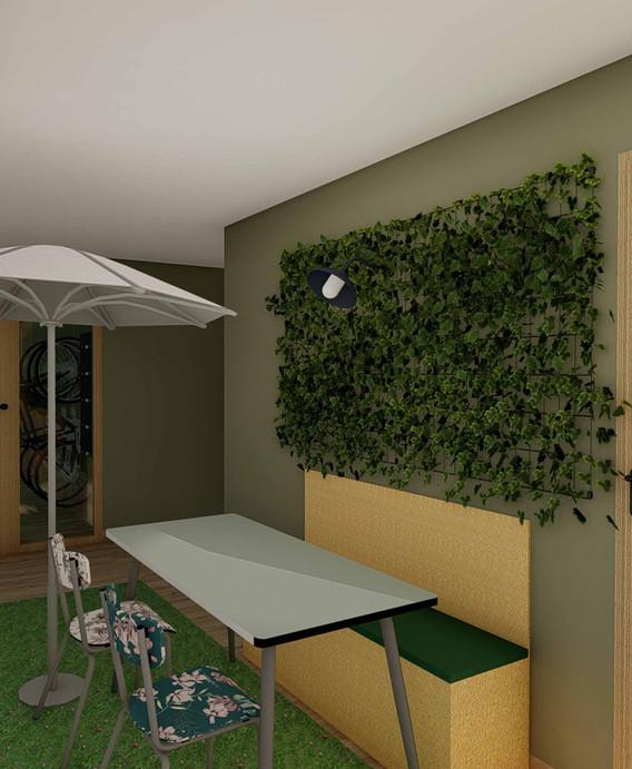 Projet décoratif Immeuble OPUS Lizé - Espace de détente