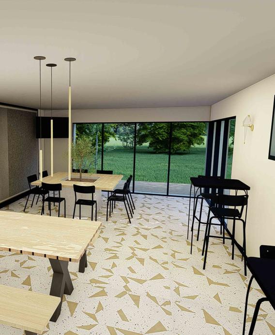 Opus MLK Angers - décoration promotion immobilière - Espace Co-Working