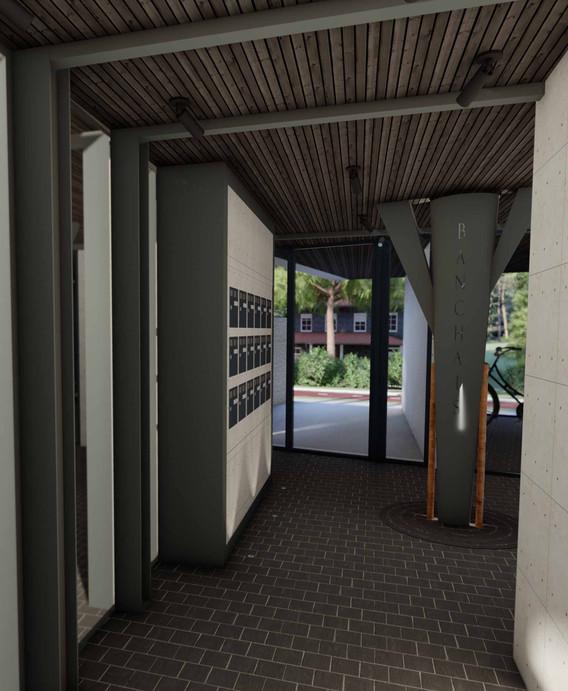 Projet décoratif immeuble Banchais OPUS - Hall de l'immeuble