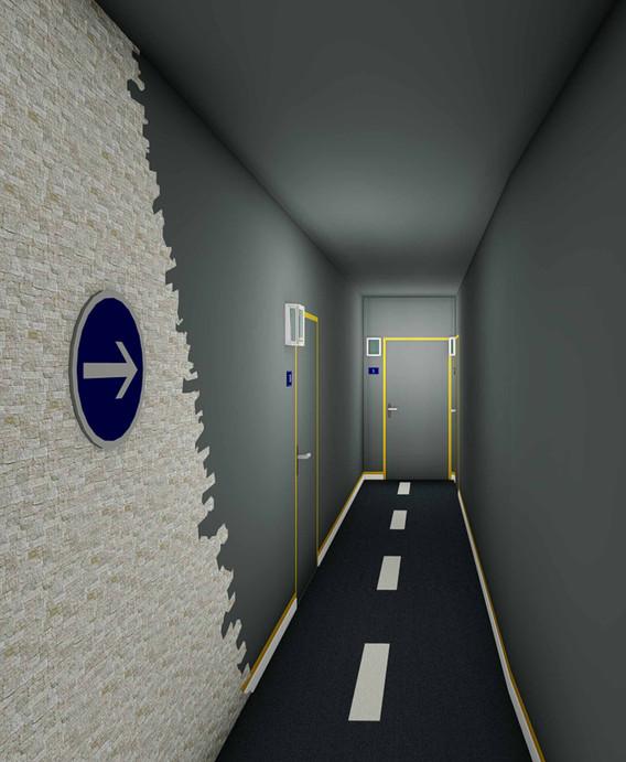 Projet décoratif Immeuble JOXE Opus - Couloir