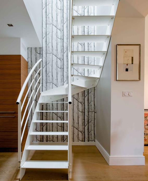 Rénovation d'une maison à Guist'hau Nantes - L'escalier