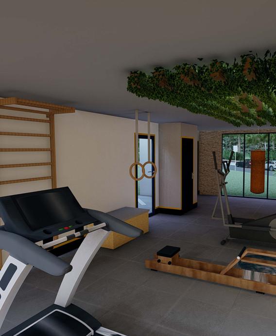 Projet décoratif Immeuble JOXE Opus - Espace sport et détente