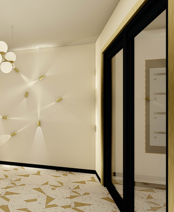 Opus MLK Angers - décoration promotion immobilière - Hall d'immeuble