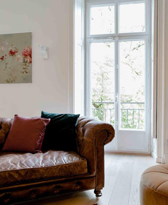 Rénovation d'une maison à Guist'hau Nantes - le salon