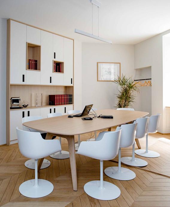 Rénovation d'un bureau étude à Nantes - Salle de réunion