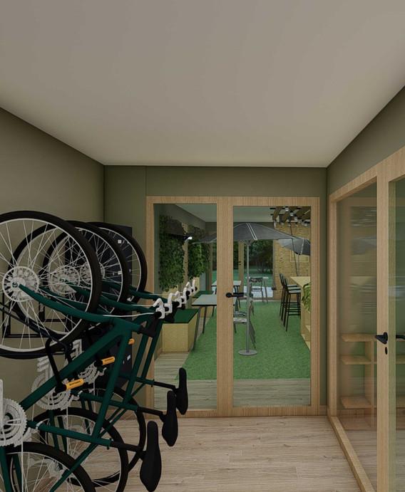 Projet décoratif Immeuble OPUS Lizé - Local vélos