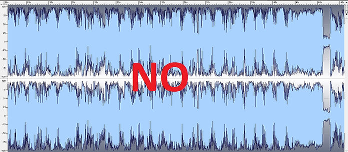 Bad for mastering audio