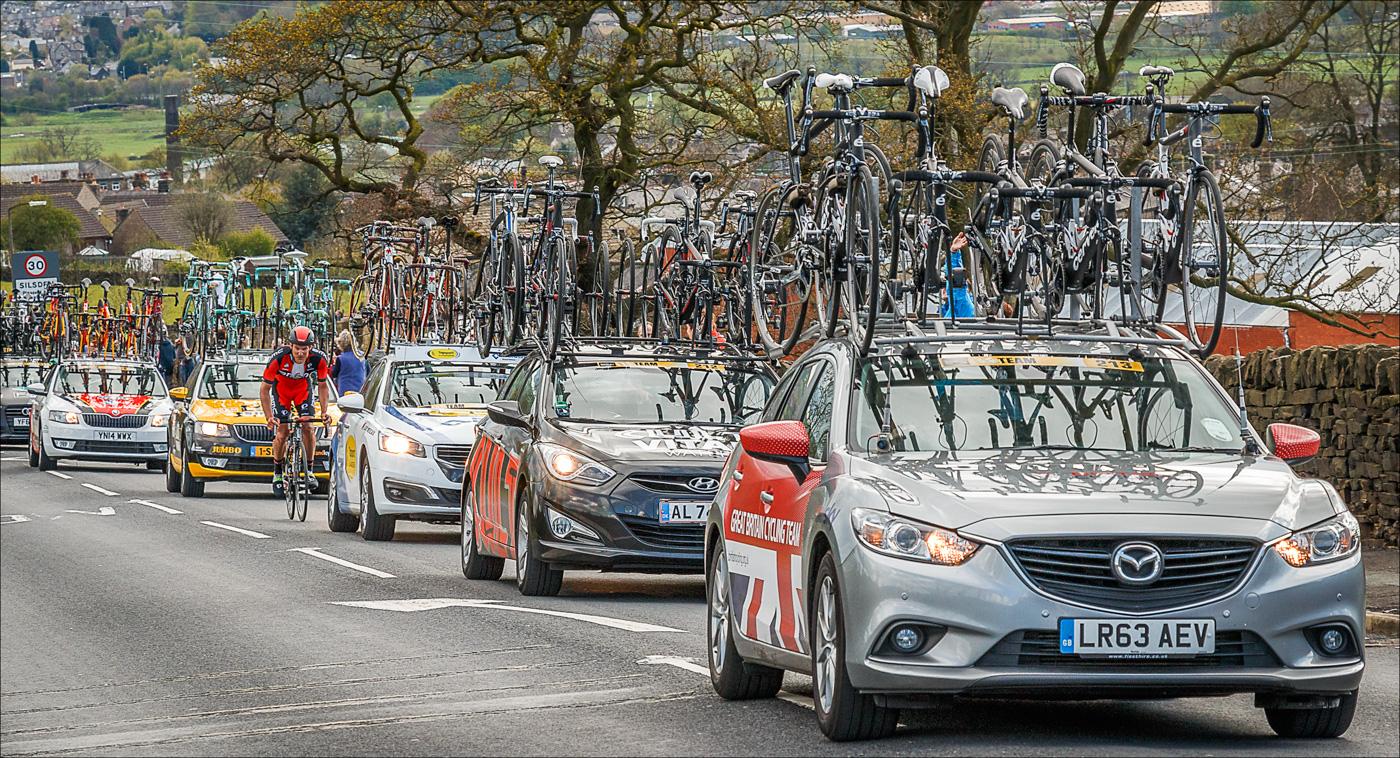 Tour de Yorkshire Support Vehicles