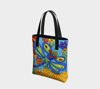 Dragonfly's Garden Tote