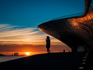 Sunset at the MAAT museum