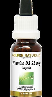 _Golden Naturals Vitamine D3 25 mcg Drup