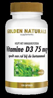 _Golden Naturals Vitamine D3 75 mcg 120